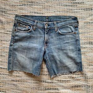 7 distressed denim shorts